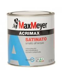 SMALTO ALL'ACQUA ACRIMAX BIANCO SATINATO - 0,750 lt