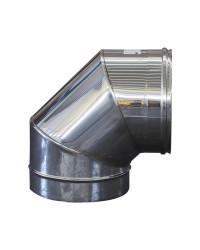 CURVA INOX 90° x ø250 mm SALDATA